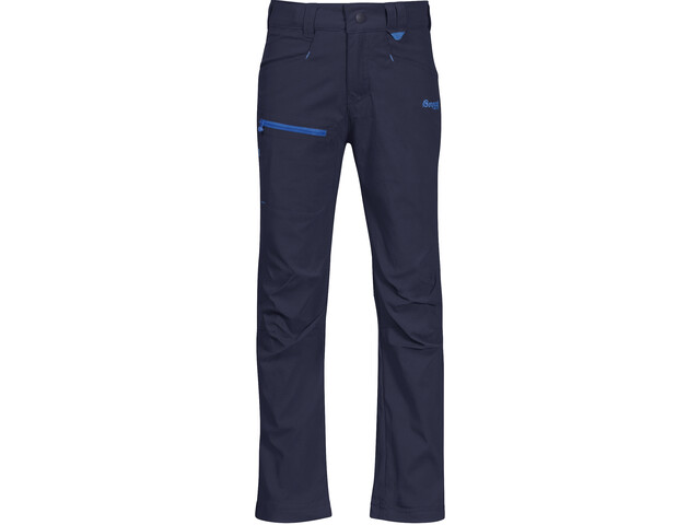Bergans Lilletind LT Softshell Hose Kinder navy/athens blue